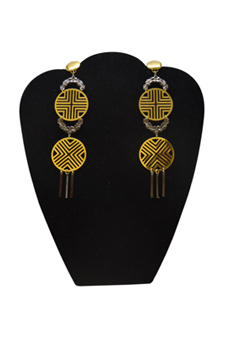 Triumph Earrings in 18k Gold And Gunmetal Plated by Laruicci for Women - 1 Pair Earrings