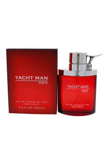 Yacht Man Red by Myrurgia for Men - 3.4 oz EDT Spray