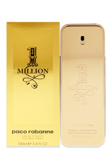 1 Million by Paco Rabanne for Men - 3.4 oz EDT Spray