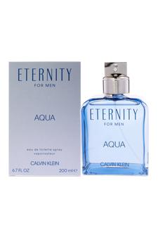 Eternity Aqua by Calvin Klein for Men - 6.7 oz EDT Spray