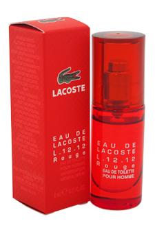 Lacoste Eau De Lacoste L.12.12 Rouge by Lacoste for Men - 8 ml EDT Spray (Mini)