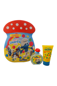The Smurfs Clumsy by First American Brands for Kids - 2 Pc Gift Set 1.7oz EDT Spray, 2.5oz Bubble Bath