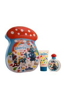 The Smurfs Gutsy by First American Brands for Kids - 2 Pc Gift Set 1.7oz EDT Spray, 2.5oz Bubble Bath
