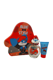 The Smurfs Blue Style Papa by First American Brands for Kids - 3 Pc Gift Set 3.4oz EDT Spray, 2.5oz Shower Gel, Papa Key Chain