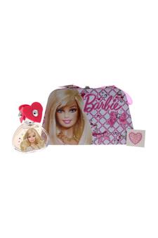 Barbie by Mattel for Kids - 3 Pc Gift Set 3.4oz EDT Spray, Metallic Box, Diamond Sticker