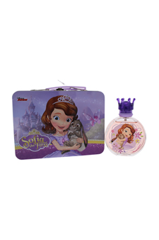 Sofia the First by Disney for Kids - 2 Pc Gift Set 3.4oz EDT Spray, Metallic Lunch Box