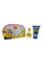 Minions by Minions for Kids - 3 Pc Gift Set 1.7oz EDT Spray, 3.4oz Shower Gel, Toiletry Bag