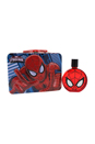 Ultimate Spider Man by Marvel for Kids - 2 Pc Gift Set 3.4oz EDT Spray, Metallic Box