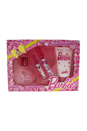 Barbie by Mattel for Kids - 4 Pc Gift Set 3.4oz EDT Spray, 0.32oz EDT Spray, 0.09oz Lip Gloss, 5.1oz Body Lotion