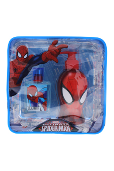 Ultimate Spider Man by Marvel for Kids - 2 Pc Gift Set 1.7oz EDT Spray, 8.5oz Shower Gel & Toiletry Bag Gift