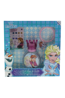 Disney Frozen by Disney for Kids - 3 Pc Gift Set 1.01 EDT Spray, Stick on Earrings, Bracelet