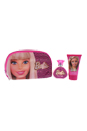 Barbie by Mattel for Kids - 3 Pc Gift Set 1.7oz EDT Spray, 3.4oz Body Lotion, Toiletry Bag
