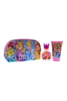 Disney Princess by Disney for Kids - 3 Pc Gift Set 1.7oz EDT Spray, 3.4oz Shower Gel, Toiletry Bag