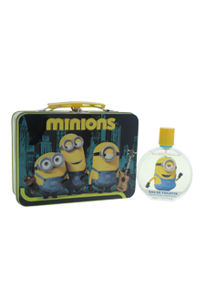Minions by Minions for Kids - 2 Pc Gift Set 3.4oz EDT Spray, With Metal Box