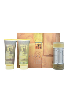 Bellagio by Vapro International for Men - 3 pc Gift Set 3.4oz edt Spray, 6.8oz after shave balm, 6.8oz shower gel