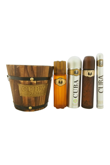 Cuba Gold by Cuba for Men - 5 pc Gift Set 3.4oz edt Spray, 6.7oz deodorant Spray, 3.3oz after shave, 1.17oz edt Spray with bucket