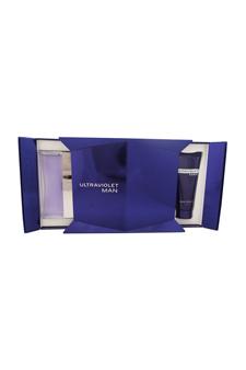 Ultraviolet Man by Paco Rabanne for Men - 2 Pc Gift Set 3.4oz EDT Spray, 3.4oz Shower Gel