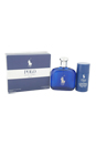 Polo Blue by Ralph Lauren for Men - 2 Pc GiftSet 4.2oz EDT Spray, 2.6oz Alcohol Free Deodorant