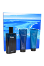 Cool Water by Zino Davidoff for Men - 3 Pc Gift Set 4.2oz EDT Spray, 2.5oz Shower Gel, 2.5oz After Shave Balm