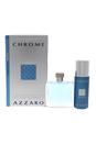 Chrome by Loris Azzaro for Men - 2 Pc Gift Set 3.4oz EDT Spray, 5.1oz Deodorant Spray