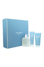 Light Blue by Dolce & Gabbana for Men - 3 Pc Gift Set 4.2oz EDT Spray, 2.5oz After Shave Balm, 1.6oz Shower Gel