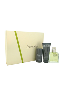 Eternity by Calvin Klein for Men - 3 Pc Gift Set 3.4oz EDT S
