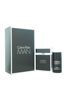 Calvin Klein Man  men 3.4oz EDT Spray Deodorant Stick Gift Set