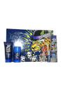 Ed Hardy Love & Luck by Christian Audigier for Men - 4 Pc Gift Set 3.4oz EDT Spray, 3oz Hair & Body Wash, 2.75oz Alcohol Free Deodorant Stick, 7.5ml Mini EDT Spray