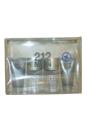 212 by Carolina Herrera for Men - 4 Pc Gift Set 1oz EDT Spray, 1oz EDT Spray, 1.7oz All Over Shower Gel, 1.7oz After Shave Gel