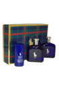 Polo Blue by Ralph Lauren for Men - 3 Pc Gift Set 4.2oz EDT Spray, 4.2oz After Shave, 2.6oz Alcohol-Free Deodorant Stick