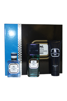 Royal Copenhagen by Royal Copenhagen for Men - 3 Pc Gift Set 3.3oz Cologne Spray, 2oz After Shave, 4oz After Shave Balm