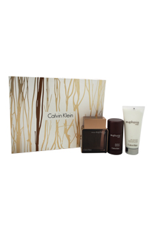 Euphoria Intense by Calvin Klein for Men - 3 Pc Gift Set 3.4oz EDT Spray, 3.4oz After Shave, 2.5oz Deodorant Stick