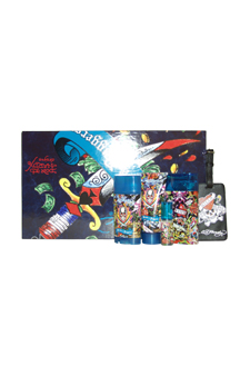 Ed Hardy Hearts & Daggers by Christian Audigier for Men - 5 Pc Gift Set 3.4oz EDT Spray, 3oz Hair & Body Wash, 2.75oz Alcohol Free Deodorant, 7.5ml Mini EDT Spray, Luggage Tag with Original Ed Hardy Tattoo Design