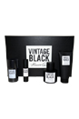 Kenneth Cole Vintage Black by Kenneth Cole for Men - 4 Pc Gift Set 3.4oz EDT Spray, 3.4oz After Shave Gel, 2.6oz Deodorant, 0.5oz EDT Spray
