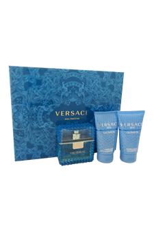 Versace Man Eau Fraiche by Versace for Men - 3 Pc Gift Set 1.7oz EDT Spray, 1.7oz Perfumed Bath and Shower Gel, 1.7oz Perfumed Shampoo