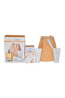 Eau De Cartier Essence D'Orange  men 3.3oz EDT Spray Gift Set