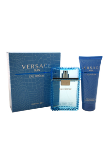 Versace Man Eau Fraiche by Versace for Men - 2 Pc Gift Set 3.4oz EDT Spray, 3.4oz Perfumed Bath and Shower Gel