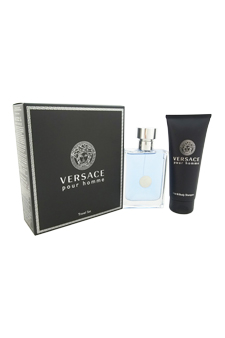 Versace Pour Homme by Versace for Men - 2 Pc Gift Set 3.4oz EDT Spray, 3.4oz Hair & Body Shampoo
