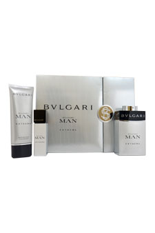 Bvlgari Man by Bvlgari for Men - 3 Pc Gift Set 3.4oz EDT Spray, 3.4oz After Shave Balm, Signature Tablet Cover