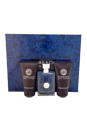Versace Pour Homme by Versace for Men - 3 Pc Gift Set 1.7oz EDT Spray, 1.7oz Perfumed Shampoo, 1.7oz Perfumed Shower Gel