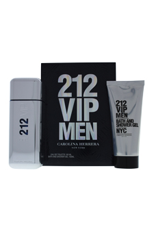 212 VIP by Carolina Herrera for Men - 2 Pc Gift Set 3.4oz ED