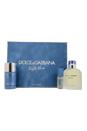 Light Blue by Dolce & Gabbana for Men - 3 Pc Gift Set 4.2oz EDT Spray, 2.4oz Deodorant Stick, 0.27oz EDT Spray