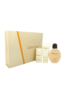 Calvin Klein Obsession  men 4oz EDT Spray Aftershave Deodorant Stick Gift Set