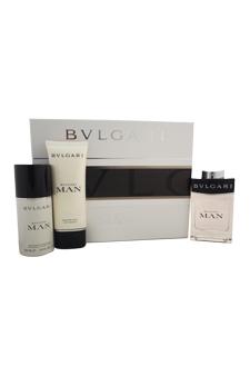 Bvlgari Man  men 3.4oz EDT Spray Aftershave Deodorant Spray Gift Set