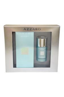Loris Azzaro Chrome Sport  men 3.4oz EDT Spray Deodorant Stick Gift Set