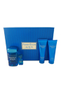 Perry Ellis Aqua by Perry Ellis for Men - 4 Pc Gift Set 3.4oz EDT Spray, 3oz Soothing After Shave Balm, 3oz Shower Gel, 0.25oz EDT Spray