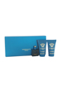 Versace Eros by Versace for Men - 3 Pc Mini Gift Set 0.17oz EDT Splash, 0.8oz Shower Gel, 0.8oz After Shave Balm