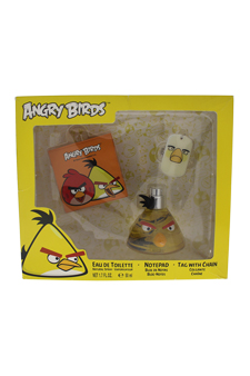 Angry Birds - Yellow by Angry Birds for Men - 3 Pc Gift Set 1.7oz EDT Spray, NotePad, Tag With Chain