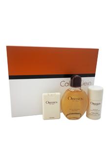 Calvin Klein Obsession  men 4oz EDT Spray Deodorant Stick Gift Set
