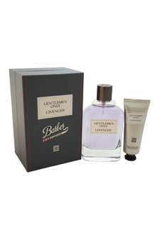 Gentlemen Only Barber Edition by Givenchy for Men - 2 Pc Gift Set 3.3oz EDT Spray, 1oz After-Shave Balm